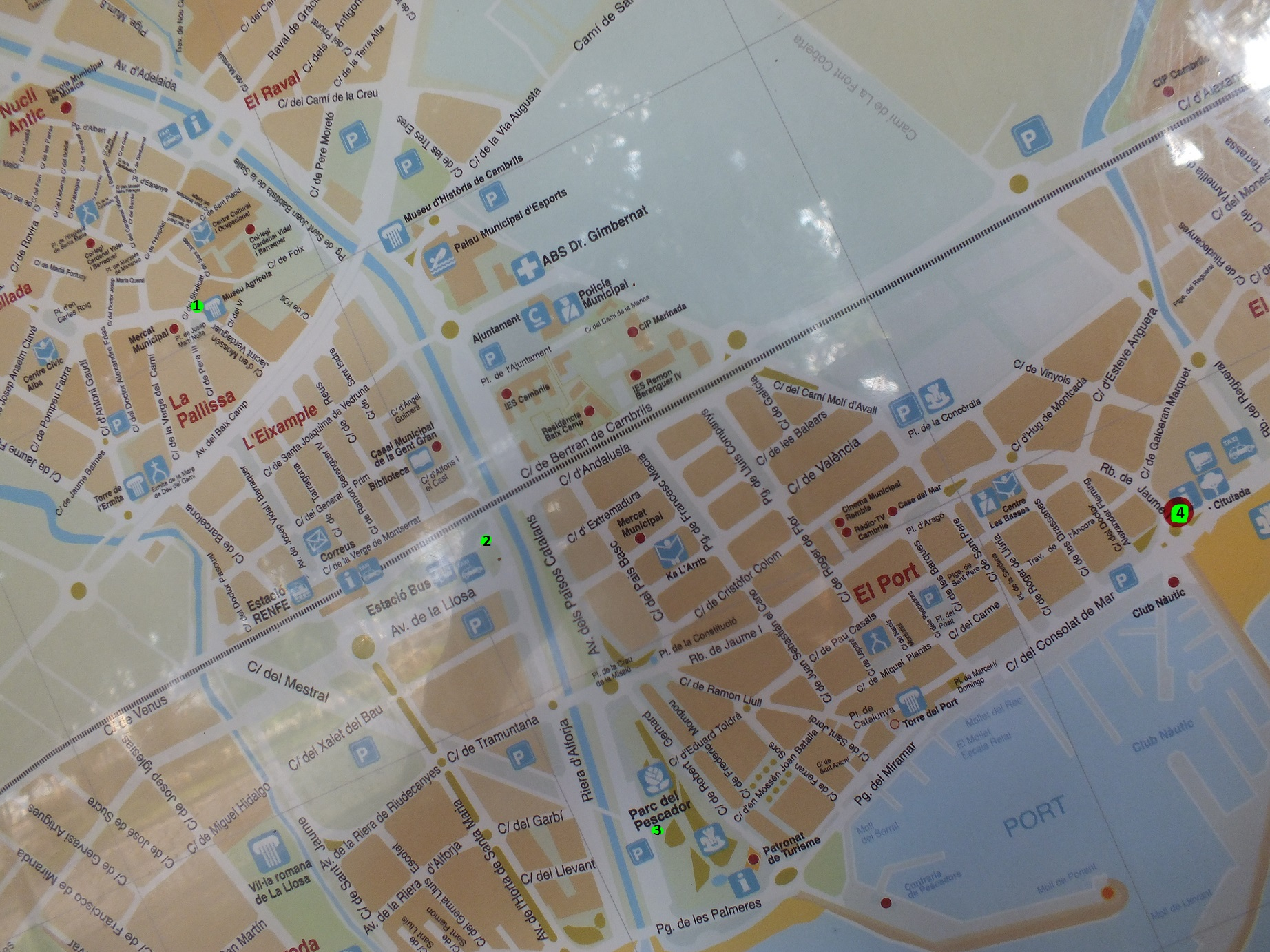 Cambrils map