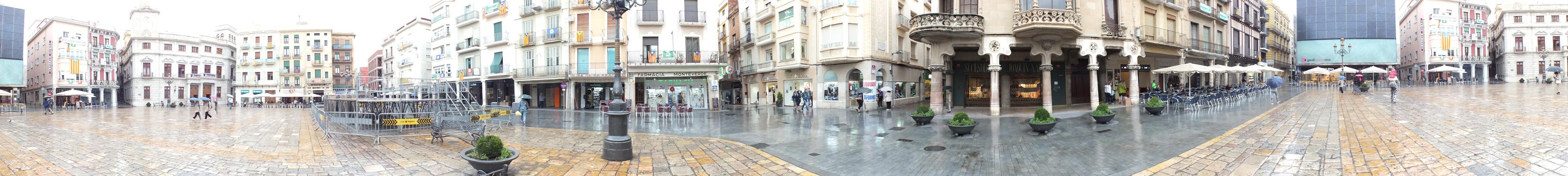 Reus panorama Placa del Mercadal