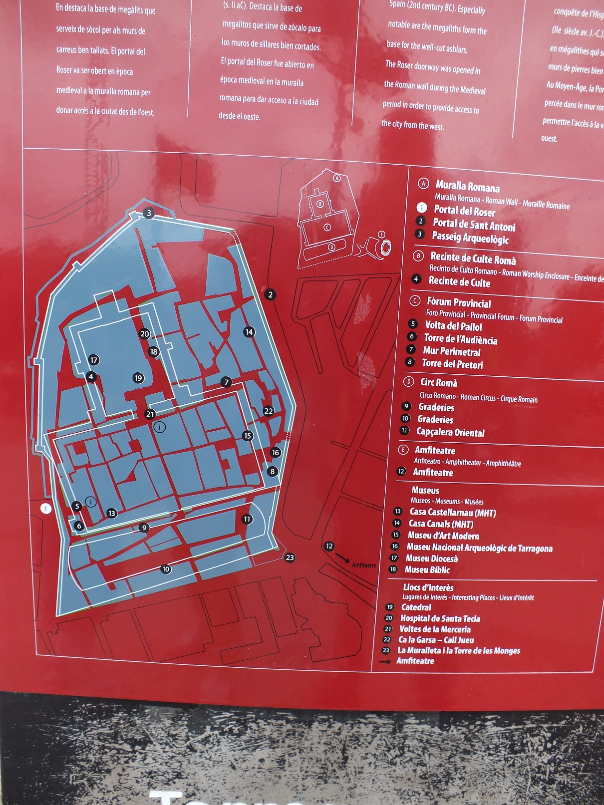 Tarragona castle map