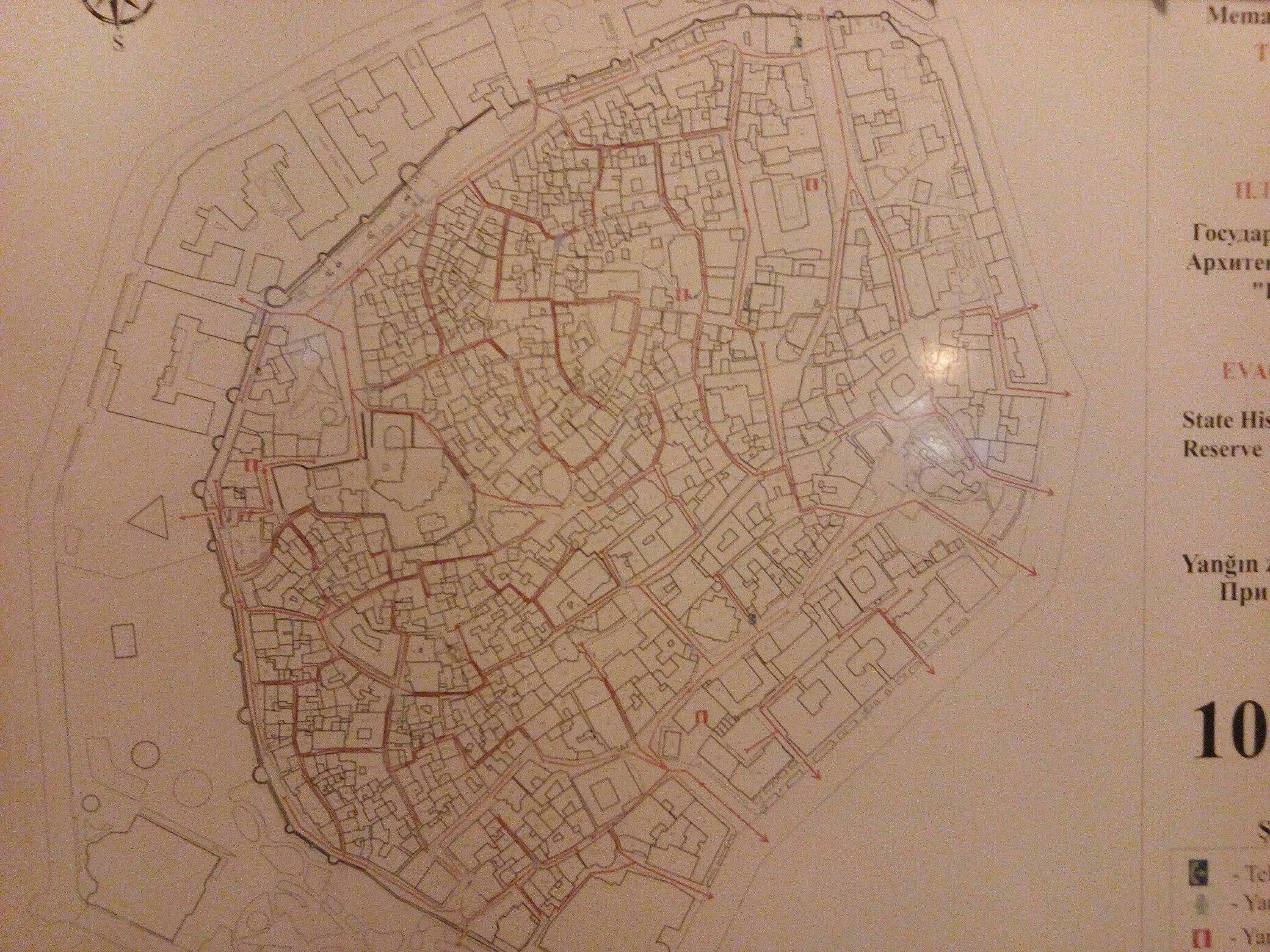 Баку_Карта Старого Города